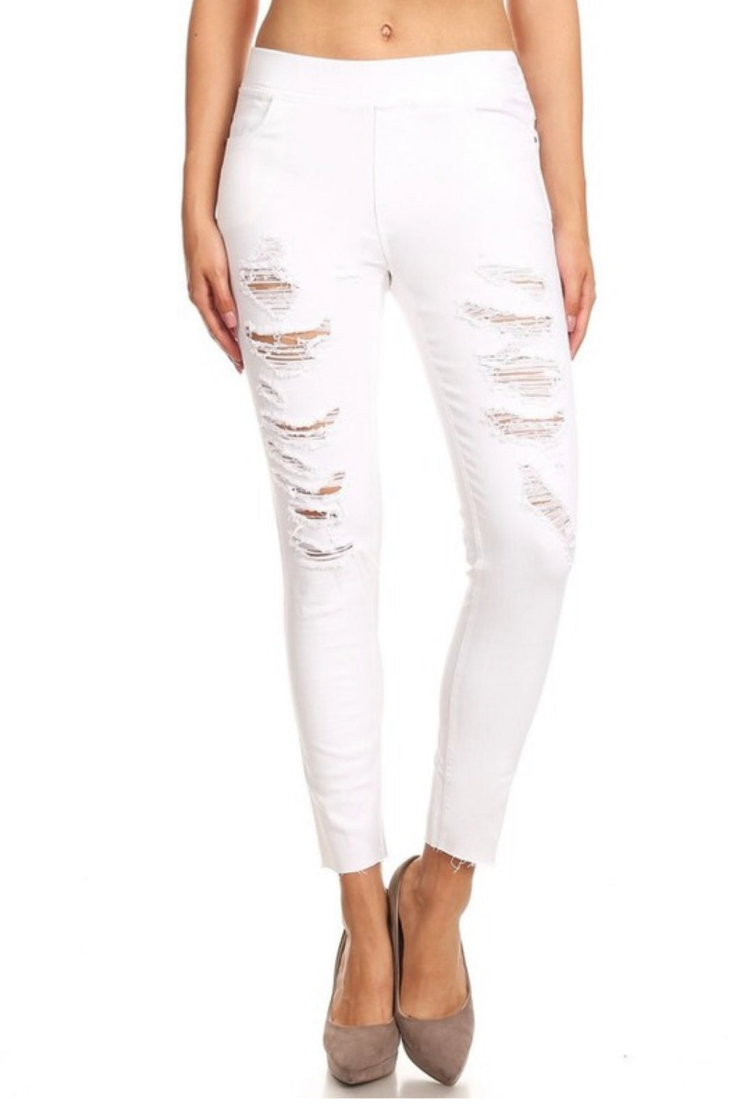 White Denim Jegging