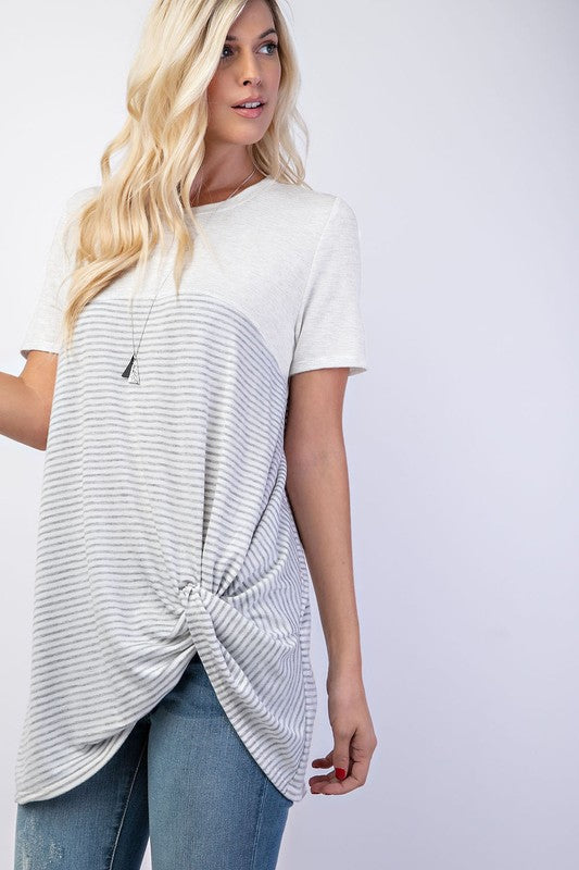 Knotted Tunic Top