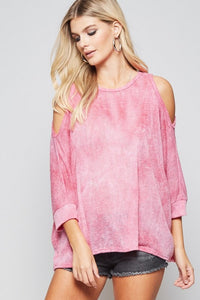 Talk To Me Cold Shoulder Top