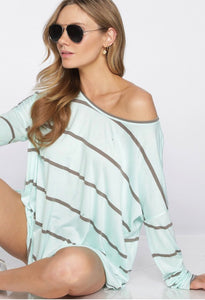 Stripe Mint Top