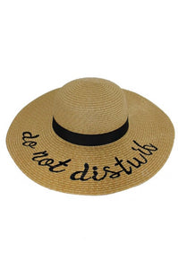 """Do Not Disturb""  Sun Hat"