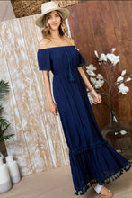 Load image into Gallery viewer, Navy Lace Detailed Dress