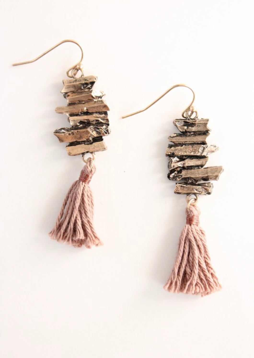Blush Tassel Earrings