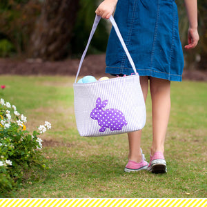 Purple Cotton Tail Easter Basket