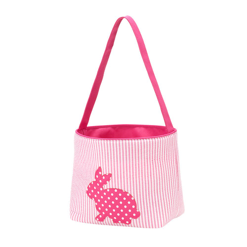 Hot Pink Cotton Tail Easter Basket