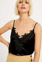 Load image into Gallery viewer, Black Velvet Camisole