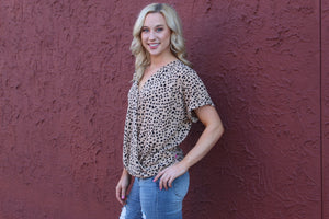You've Been Spotted - Leopard Print Top