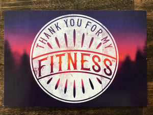 Thank You For My Fitness Postcard, Thank You Card