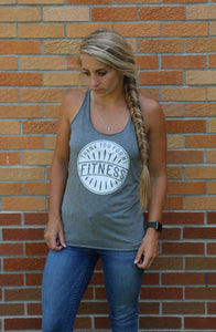 thank you for my fitness, racerback, tank top, tri-blend, Bella Canvas