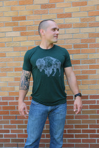 buffalo t-shirt, bison t-shirt, short sleeve shirt, tri-blend shirt, thank you for my fitness