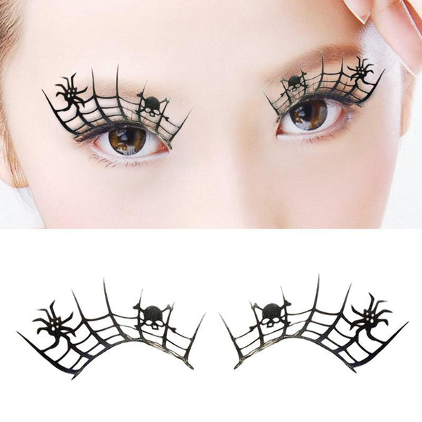 New Arrival 3d Spider False Eyelashes Halloween Party Art Paper