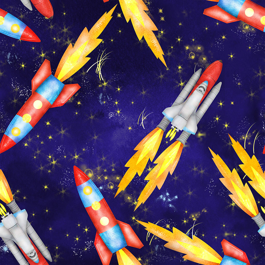 Rockets Space Fabric