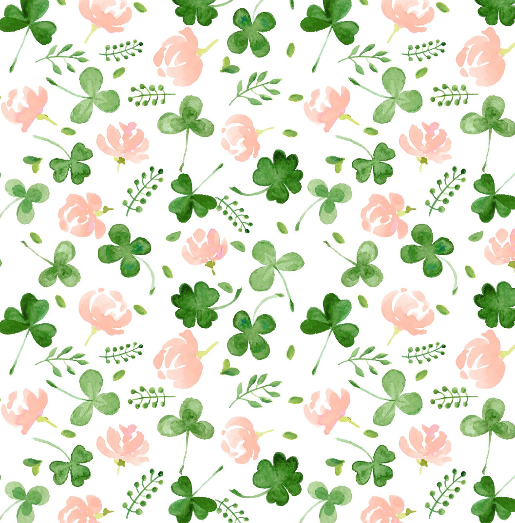 Pretty Floral Clovers