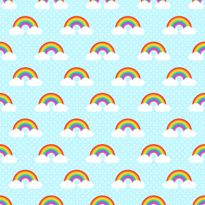 Rainbow and Clouds Dots