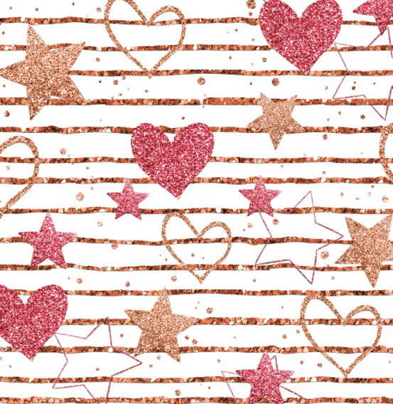 Love Glitter Hearts and Stars