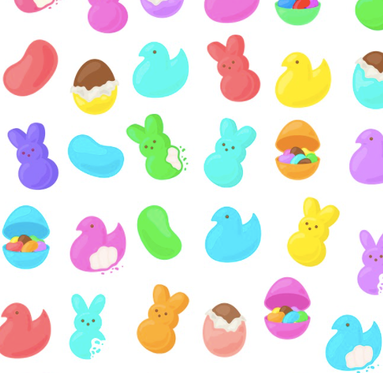 Rainbow Peeps and Jellybeans