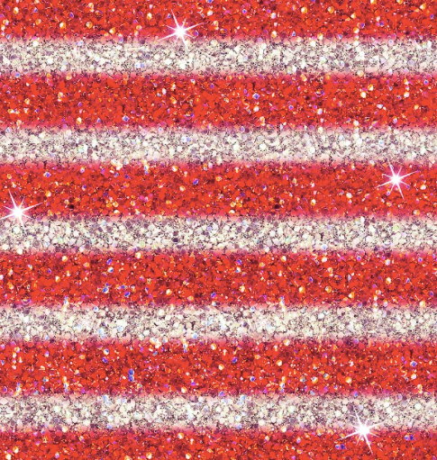 Red White Glitter Stripes