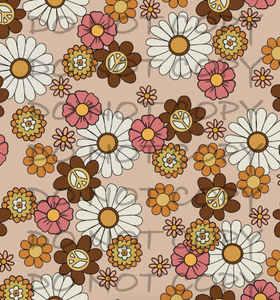 Brown Peace Floral