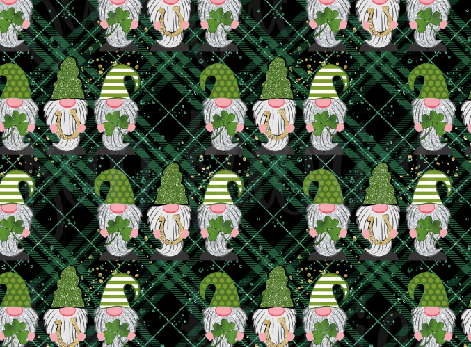 St. Patrick's Plaid Gnomes