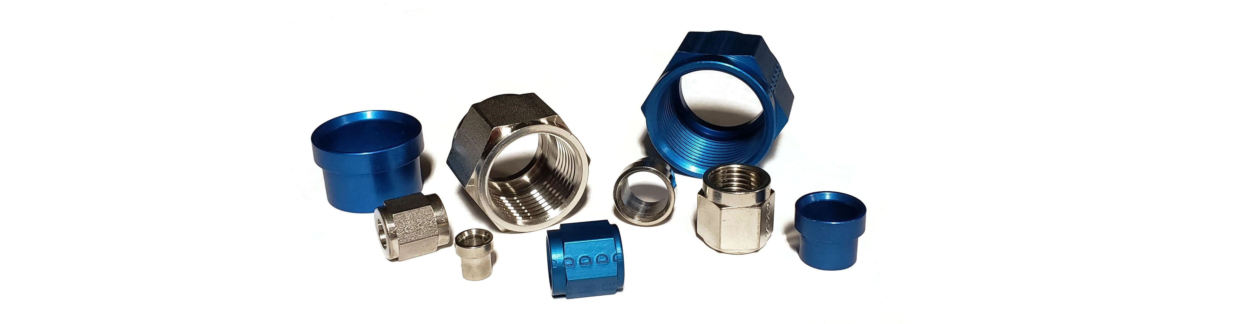 Aerospace Fittings - AN,AS and MS nuts and sleeves for tube assembly