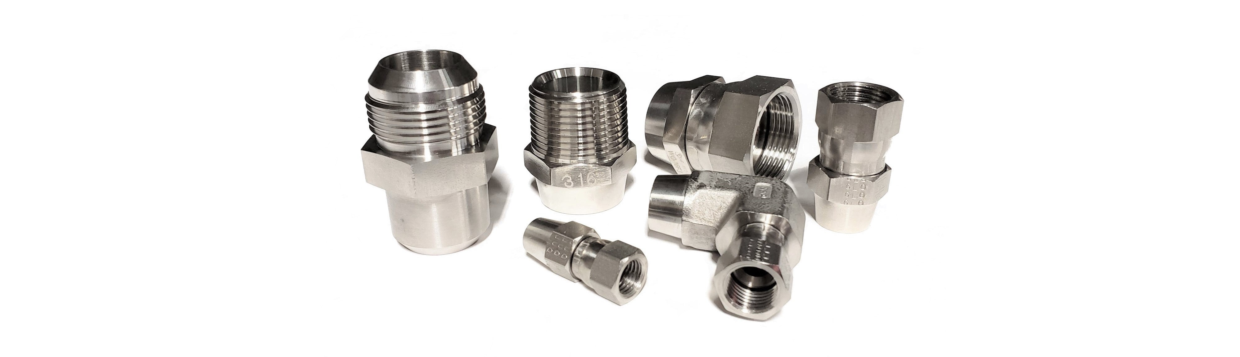 Hydraulic Fittings & Adapters - JIC, NPT, 316 Stainless Steel