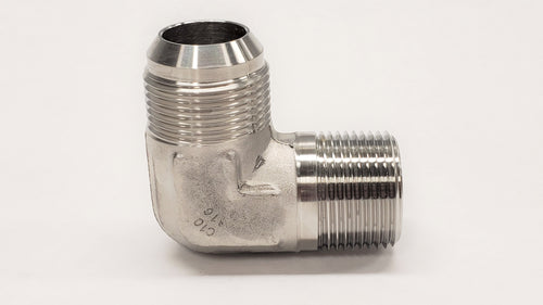 JIC to NPT adapter - 2501 - 90° MALE ELBOW - 316SS - Jupiter Stainless & Alloy -  Buy Metals Online.