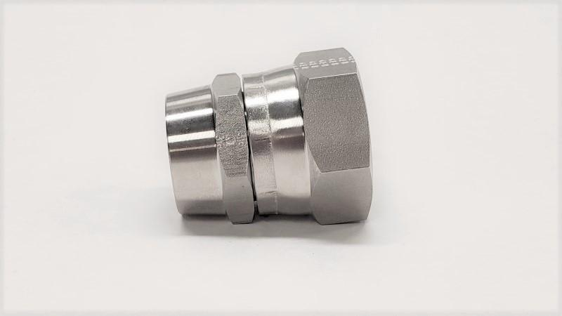 Butt-Weld Hose Connector Female JIC Swivel