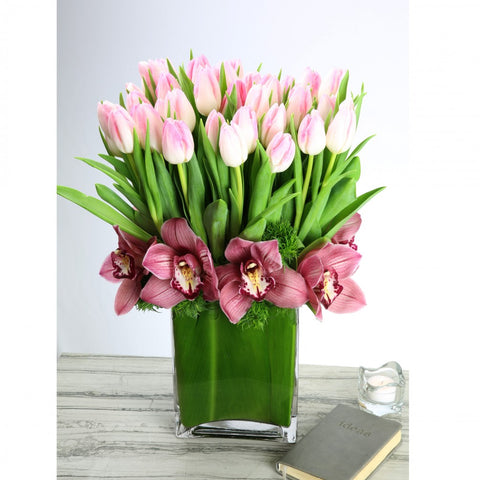 Pretty Pink Tulip Arrangement
