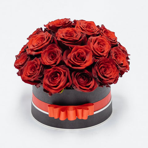 Elegant Box of Red Roses