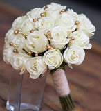 Luxury White Rose Bridal Bouquet