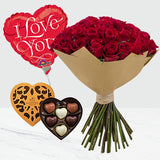 Adoring Love Bouquet with Godiva Chocolate and Balloon
