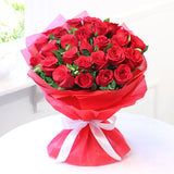 Bunch of 25 Red Roses