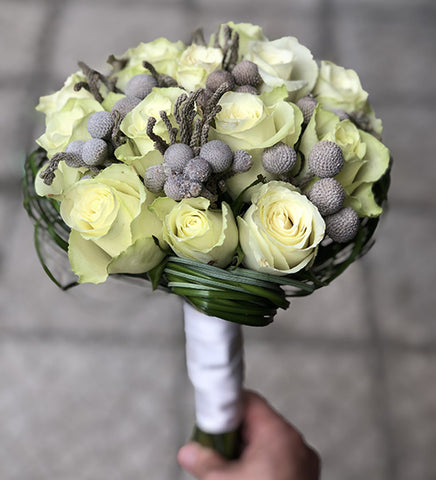Beauty of White Bridal Bouquet