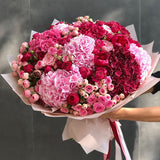 Beauty Pink Flowers Bouquet