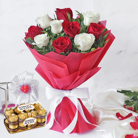products/bouquet-of-10-red-and-white-roses-with-Ferrero-Rocher-Chocolate-Box-16-Pieces.jpg