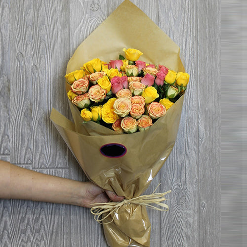 Bouquet of Colourful Spray Roses