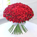 Loving 100 Red Roses Hand Tied Bouquet