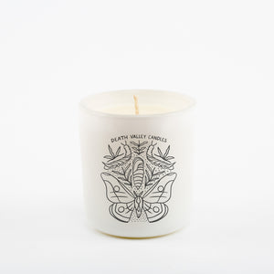 The Moth Metamorphosis Candle - White Vessel