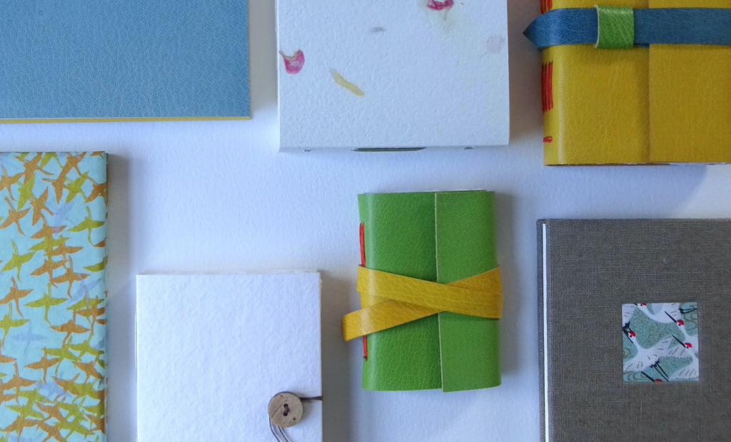 perfect bindings group of hand bound sketchbooks