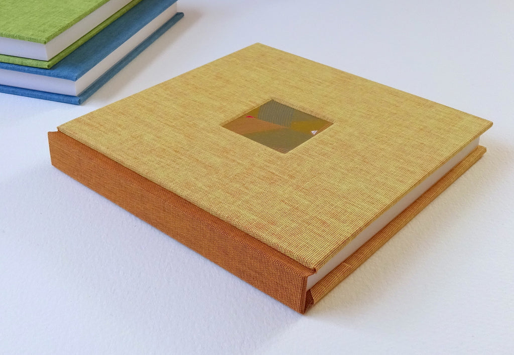 perfect bindings hand bound sketchbook with chiyogami paper square