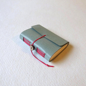 Hand bound mini leather notebook