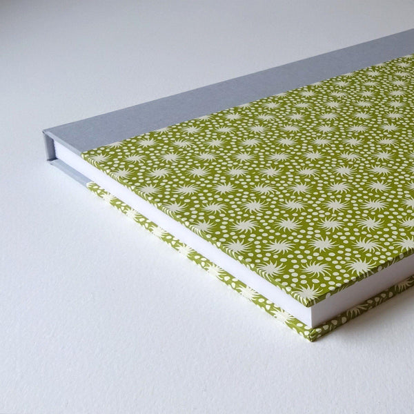 perfect bindings large sketchbook with green cambridge imprint pattern paper