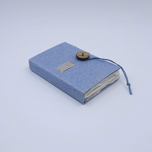 perfect bindings blue handmade paper mini book