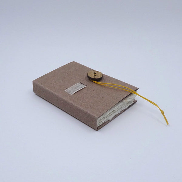 perfect bindings brown handmade paper mini book