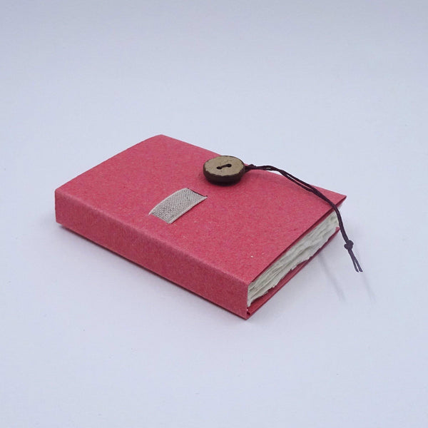 perfect bindings deep rose handmade paper mini book