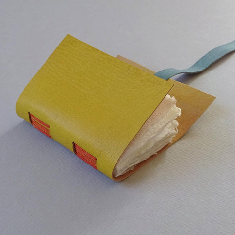 perfect bindings mustard leather mini book