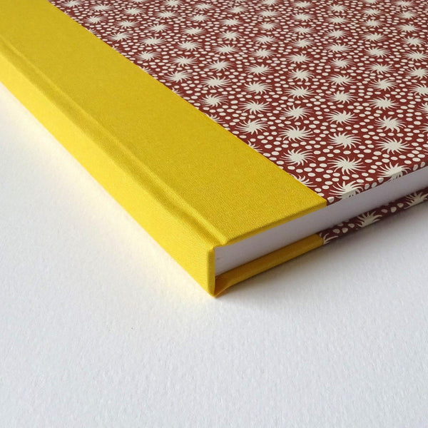 perfect bindings hand bound sketchbook with cocoa brown pattern paper
