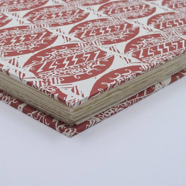 perfect bindings watercolour sketchbook with enid marx pattern paper detail