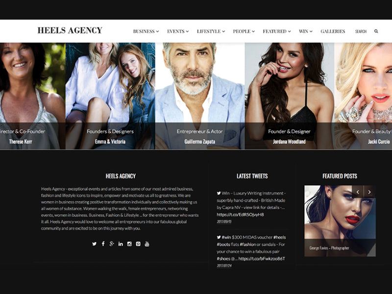 custom website design & content