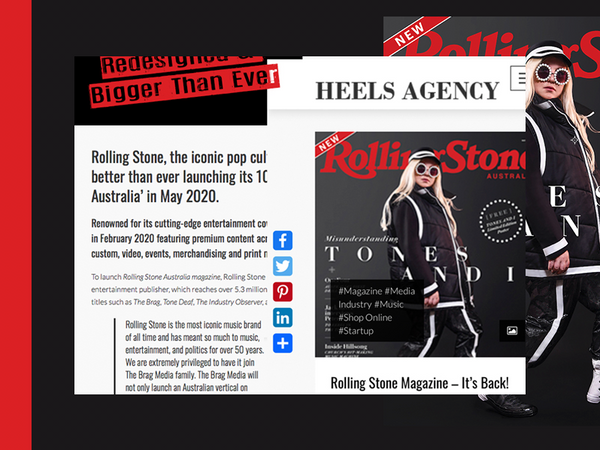 Rolling Stone Magazine Launch Issue Heels Agency Startup ed-it.co creative services Demi Karan